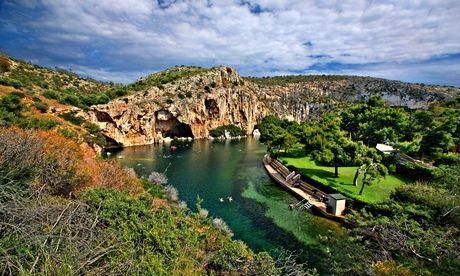 Grrek road trip - Vouliagmeni lake near Athens, Greece. Photograph: Alamy