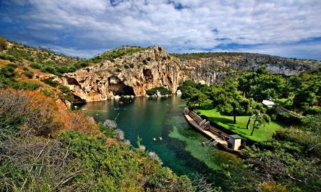 Grrek road trip - Vouliagmeni lake near Athens, Greece. Photograph: Alamy