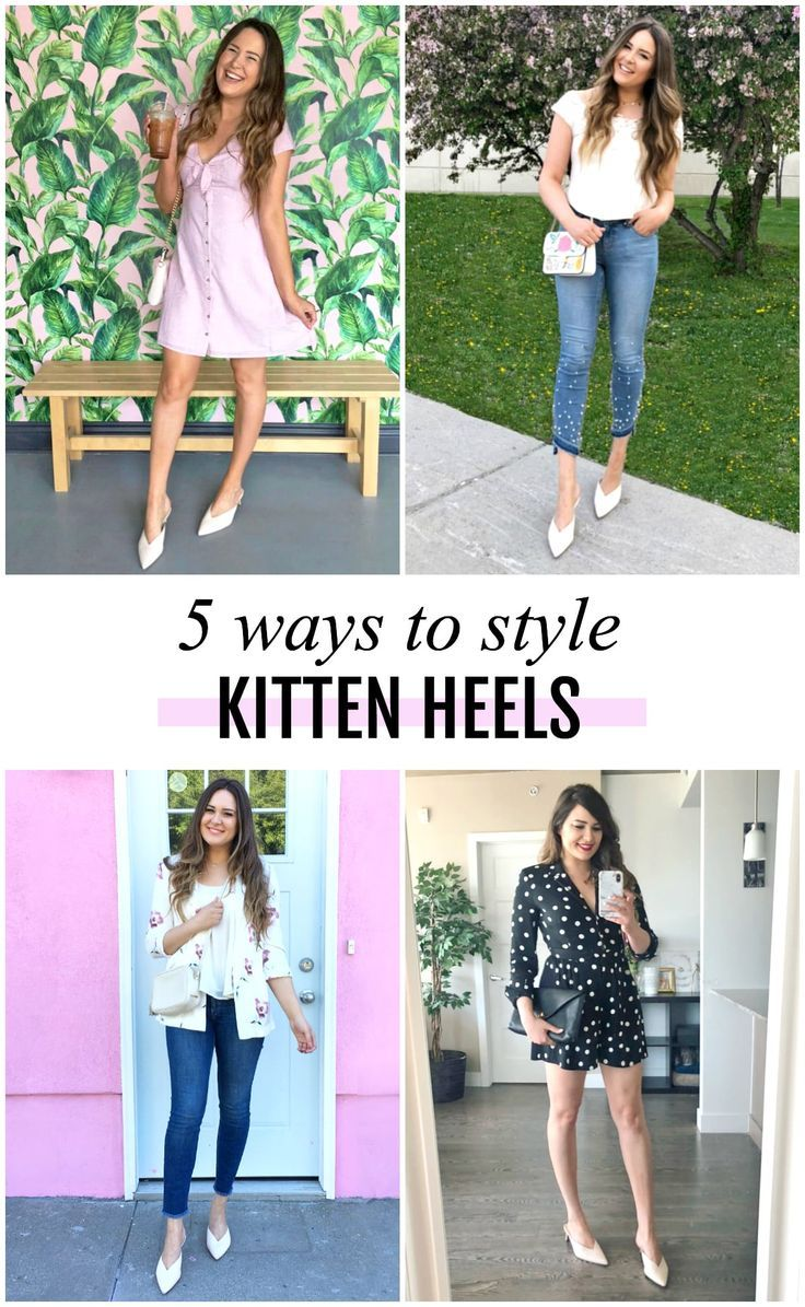 089c20740 5 Easy Ways to Style Kitten Heels This Summer | Outfit Inspiration ...