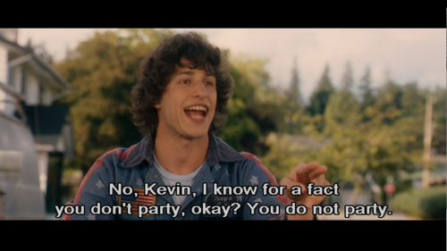 "Hot Rod feat Andy Samberg! ""I like to party, I'm Rod."" ""NO YOU'RE KEVIN."""