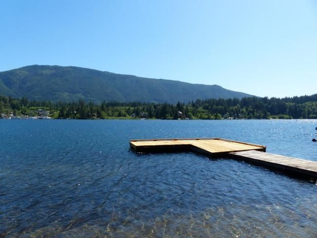 Visit LAKEHOUSEVACATIONS.com to book this home for your next lake vacation to Lake Cowichan, British Columbia on Cowichan Lake . 4 Bedrooms. Sleeps 8. For Rent Daily, Weekly, Weekends, and Monthly for as low as $67/day (@low season monthly rate) - 4 Bedroom Home with Private Dock and Hot tub. Lake Cowichan Escape is a A-frame beauty on Lake Cowichan with peaceful lake views and water access with a private dock. Amenities include two flatscreen tvs, wood burning fireplace, wifi, etc.