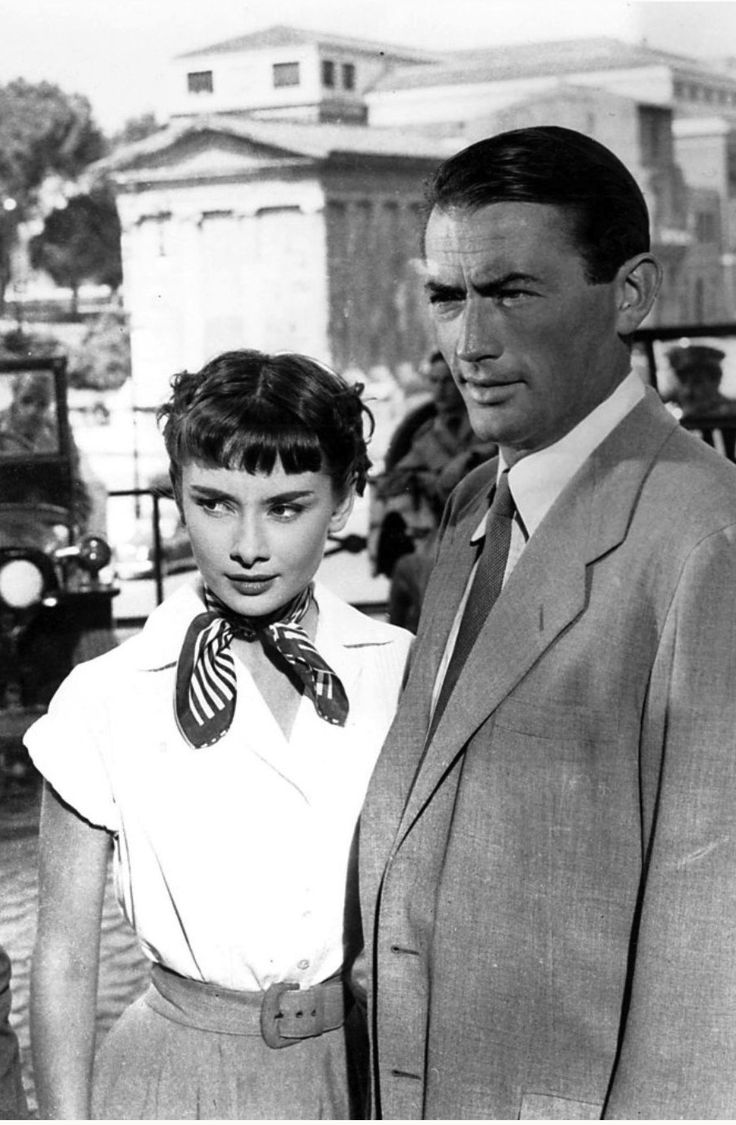 Audrey Hepburn and Gregory Peck in Roman Holiday (William Wyler, 1953)