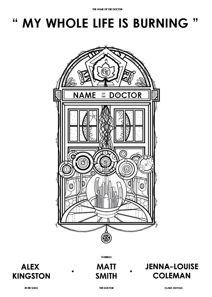 1.  'the Name of the Doctor' The first in a loose trilogy of alternative movie posters for Doctor Who