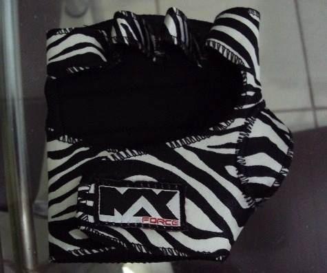 Luva Musculação Feminina Zebra Exclusiva Max Force