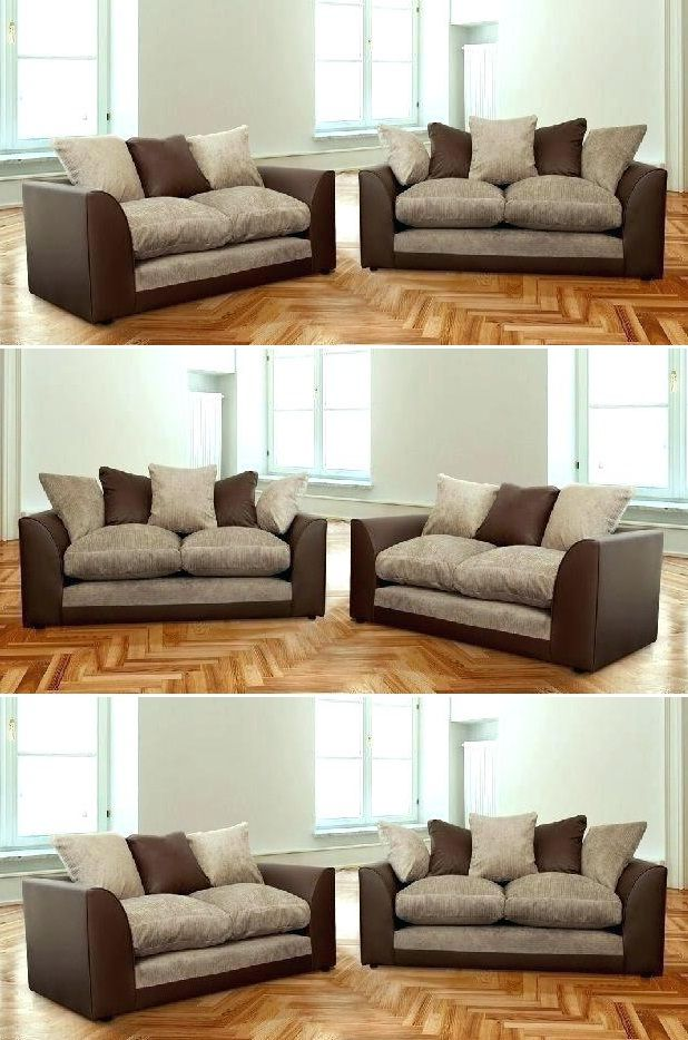Mixing Leather And Fabric Sofas Couch Design Latest Sofa