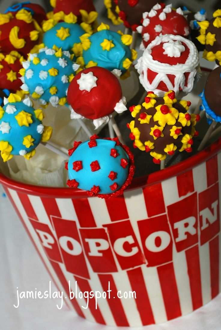 It's All In the Details: Vintage Circus Shower - Great cake pop display