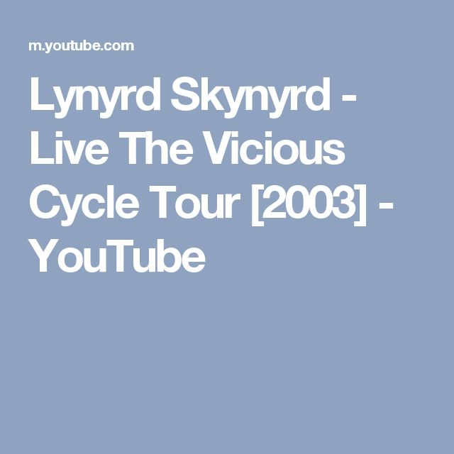 Lynyrd Skynyrd - Live The Vicious Cycle Tour [2003] - YouTube