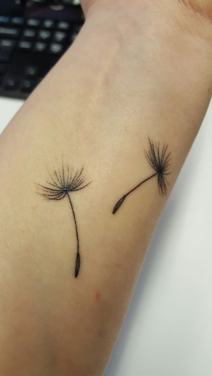 Dandelion seed tattoo #itsthelittlethings... #carefree #hope #positivity