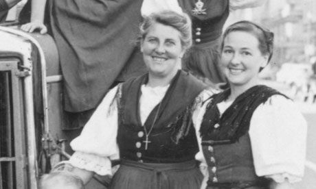 Georg Von Trapp's First Wife | Agathe von Trapp (right), pictured in 1948. Photograph: AP