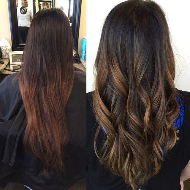 Hand painted Balayage (Goldwell Colorance 7sb base & 8ba on the ends)