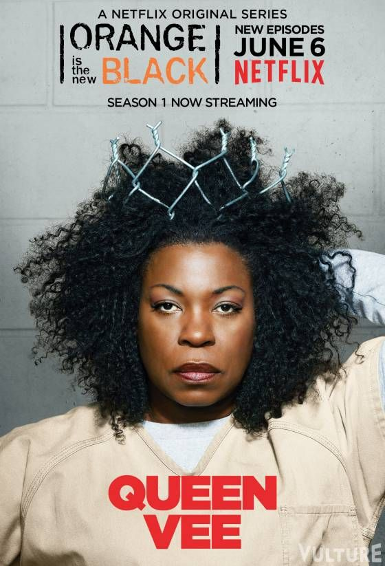 Orange is the New Black : New Season June 6, 2014 ~ Lorraine Toussaint -- a.K.a. Vee  Not a fan of Vee at all!