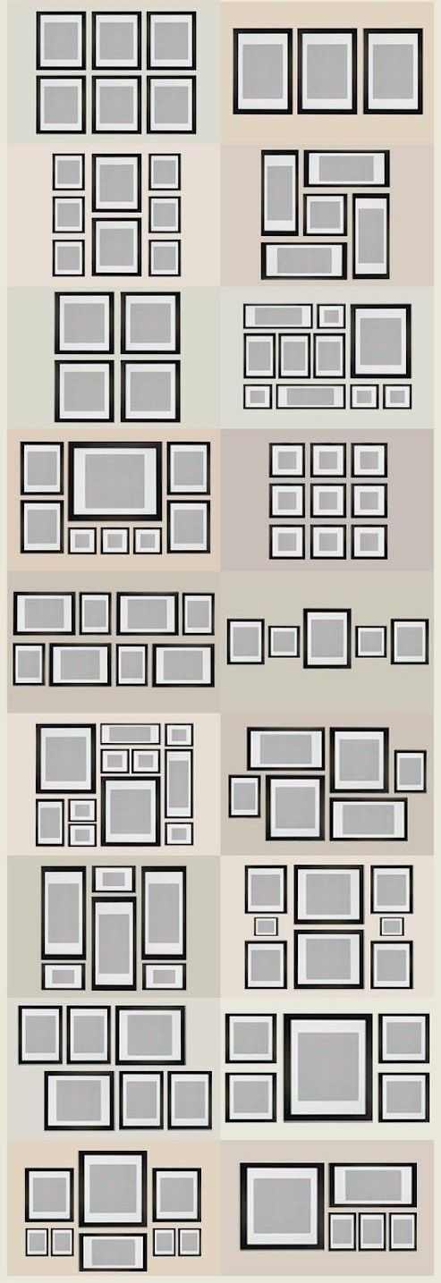 Check out some frame layouts for that empty wall space. If you are still missing a few frames visit us.