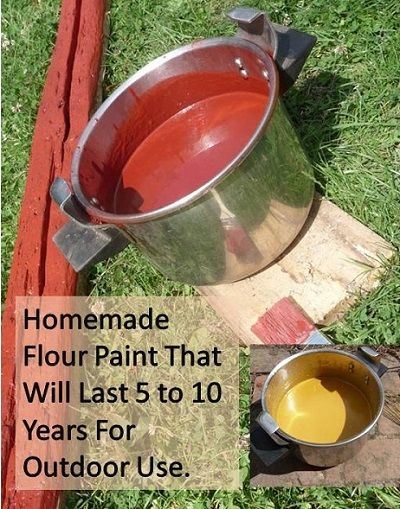 Recipes, Projects & More - Homemade Flour Paint That Will Last 5 to 10 Years For Outdoor Use