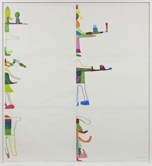 Olav Christopher Jenssen; Appendix: Third Section of the Empty Drawing Room. 2006, Pastel and crayon on paper 161 x 177 cm