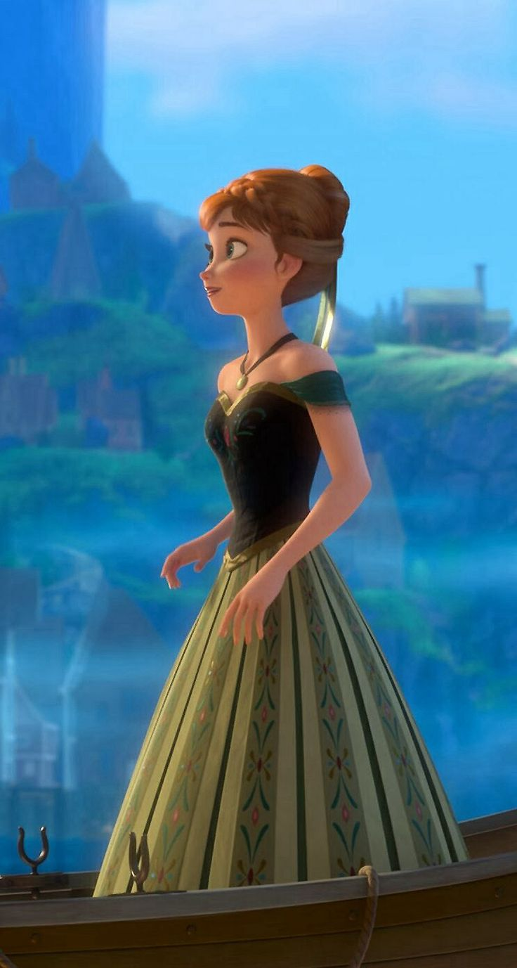 Anna en robe de bal