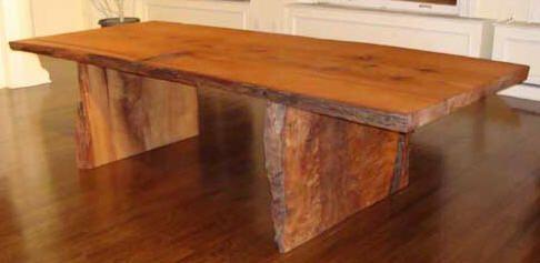 Gigantic But Gorgeous Rough Cut Tree Slab Table