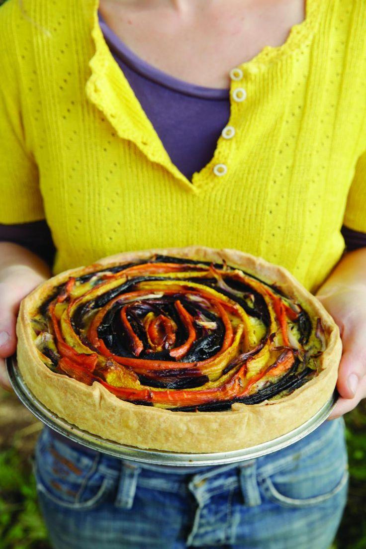 Recept: Quiche van geroosterde wortelen uit De moestuin van Mme Zsazsa --> Klik op de afbeelding door naar de blog voor het volledige recept!
