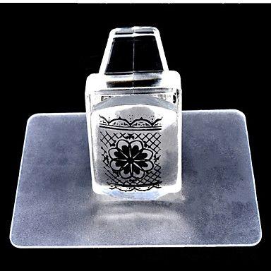 1set квадратный прозрачный штамп ногтей набор инструментов для ногтей - EUR € 2.93