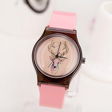 Mujeres El Patrón Bucks Dial reloj de pulsera de cuarzo analógico Plastic Band (varios colores) – EUR € 7.35