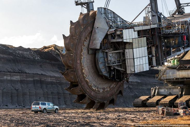 The Bagger 288 bucket wheel excavator. I think at one time or maybe still currently the largest earth moving machine built. This is the machine that picked up the Cat D8 dozer.