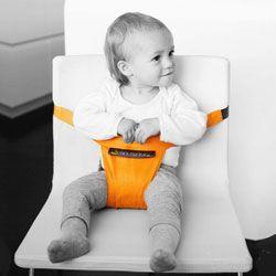 Met de MiniMonkey Minichair maak je van iedere stoel, dus ook een kinderstoel, in een handomdraai een stabiel babyzitje! De Minichair heeft een ingenieuze gepat