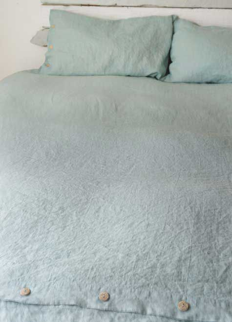 rough linen st barts blue duvet covers