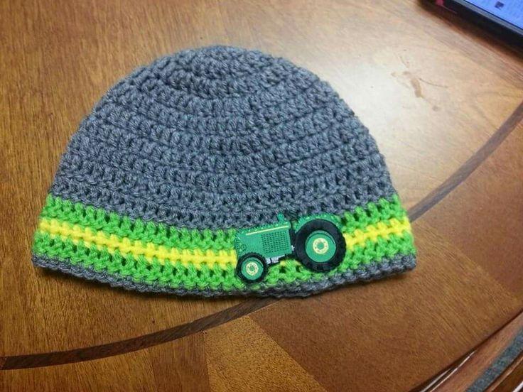 Crochet John Deere hat crochet hats Pinterest John ...