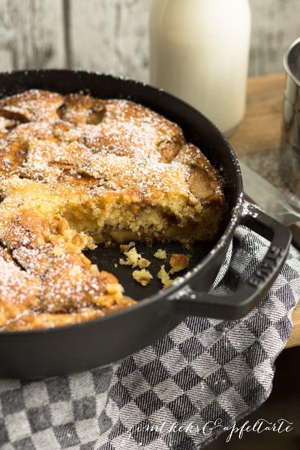 Apple-Skillet Cake Apfel-Pfannenkuchen  - Zimtkeks und Apfeltarte
