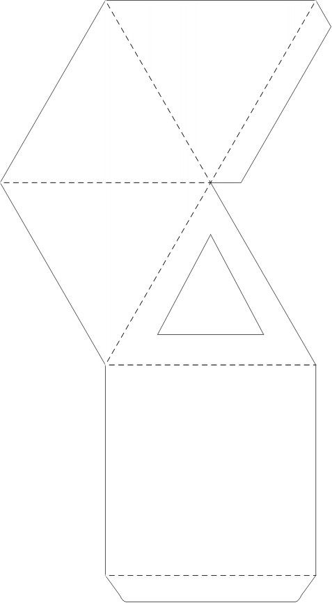 pyramid box template for favor boxes!       http://www.planetpals.com/images/box-pyramid.jpg