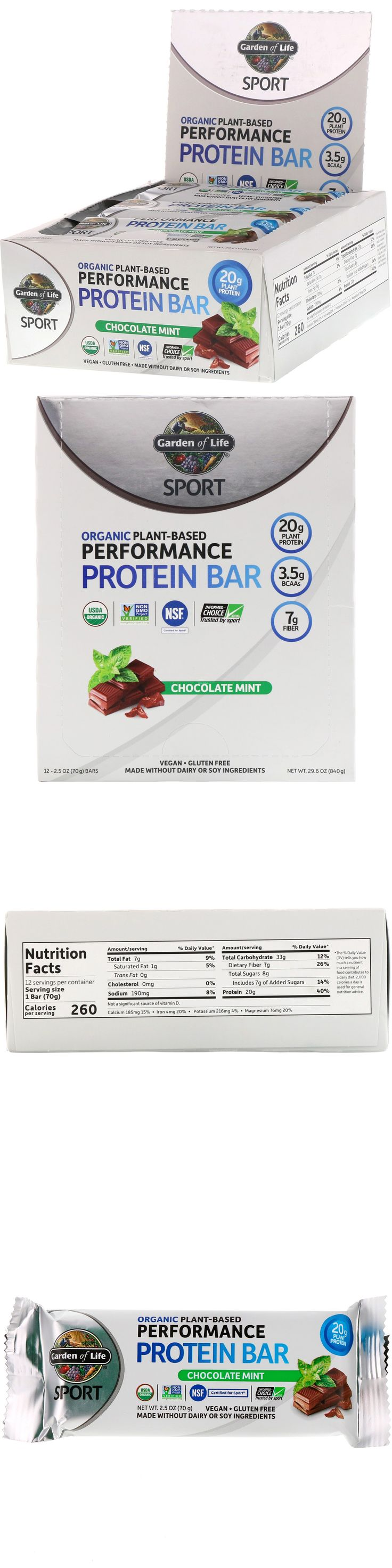 Sport, Organic PlantBased Performance Protein Bar