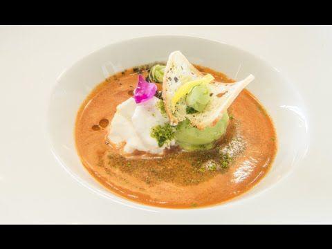 Zuppa di pomodoro (Gazpacho) gelata - Lo Basso Unico Milano - YouTube