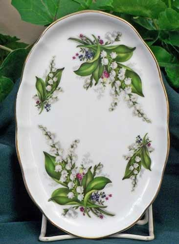 Lily of the Valley Fine Bone China Serving Tray