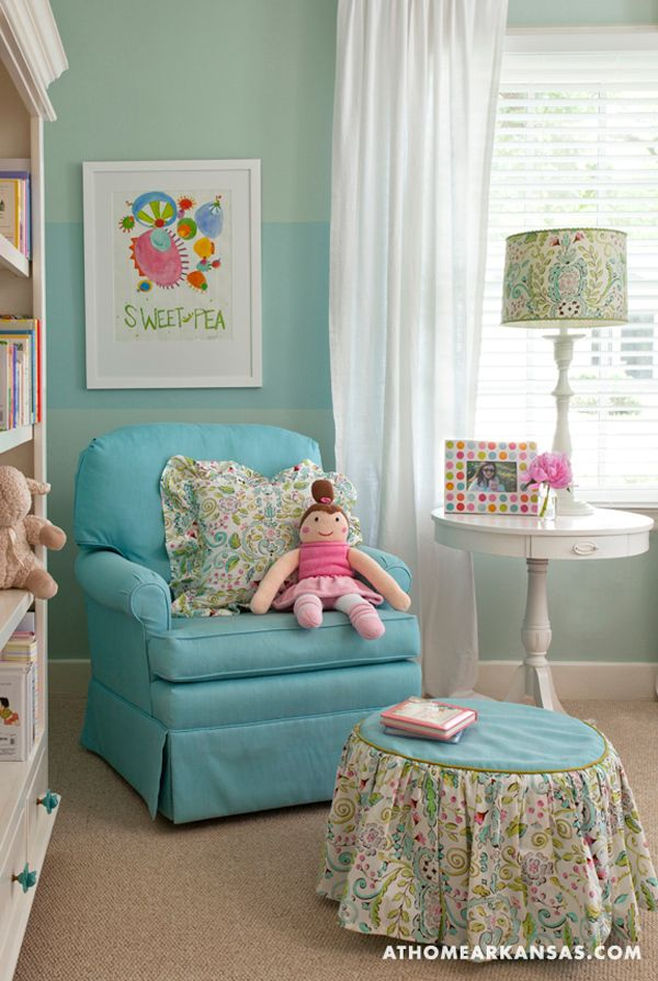 Benjamin moore palladian blue stripe is sherwin williams watery similar color by sherwin - Girl room colors paint ...