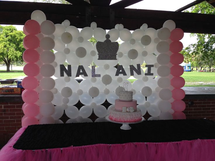 14 best images about balloon wall and back draping on for Balloon decoration on wall