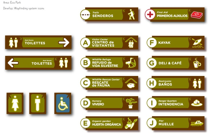 Full signage system from Delta Terra