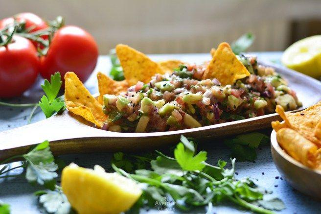 Un snack rapid si sanatos - Chunky Guacamole