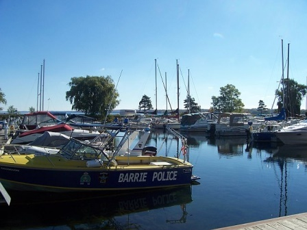 Barrie, Ontario. More waterfront - the marina.