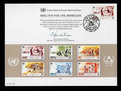 U.N. SOUVENIR CARD #31 - SHELTER FOR HOMELESS - FD, NY