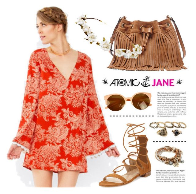 """""""Festival Look"""" by atomic-jane ❤ liked on Polyvore featuring Stuart Weitzman, Sole Society, Cult Gaia, Lizzy James, boho, festivallook, atomicjane and atomicjaneclothing"""