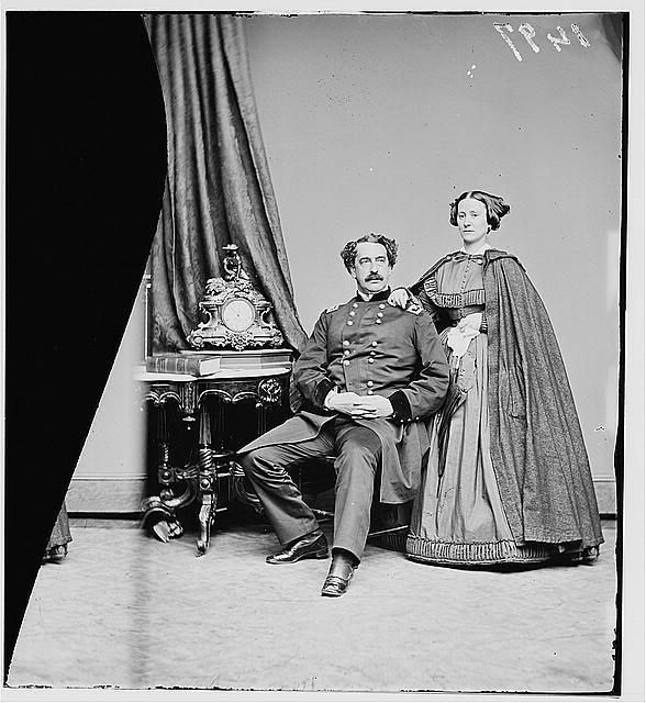 Major General Abner Doubleday,troops,soldiers,United States Civil War,wives,1860