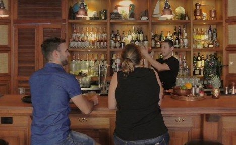 Be sure to grab a front row seat at the bar for an amazing view of the bartenders meticulously mixing together the perfect rum cocktail.
