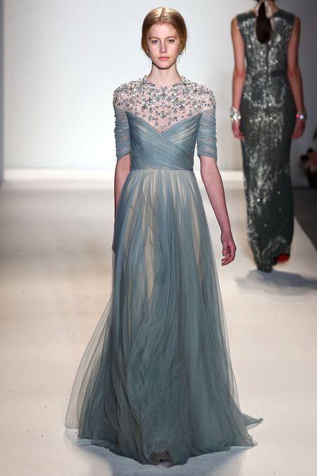お色直しにぴったり!透け感が美しいグレーの大人カラードレス♡ ジェニーパッカムの花嫁衣装・ウエディングドレス一覧☆