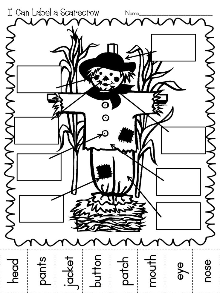 Label a Scarecrow Pumpkin.pdf Preschool activities