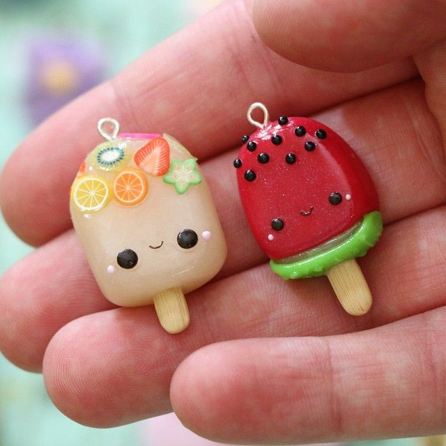 "1,476 Likes, 33 Comments - Funkypinkgal || Sarah (@genuinefpg) on Instagram: ""Here are two little polymer clay sandwich charms that I made a few days ago! I just finished…"""
