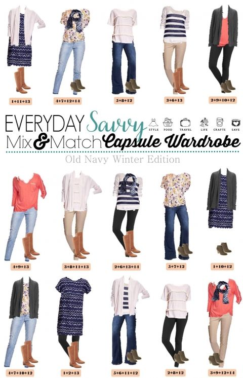 1.25 Capsule Wardrobe - Old Navy Winter Edition VERTICAL
