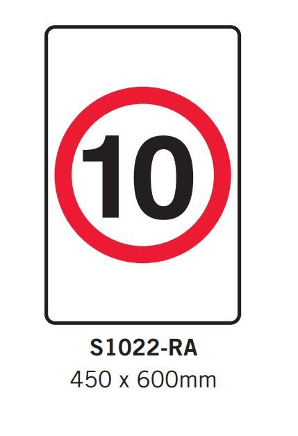 Car Park Signs- 10 kph sign - Spacepac Industries