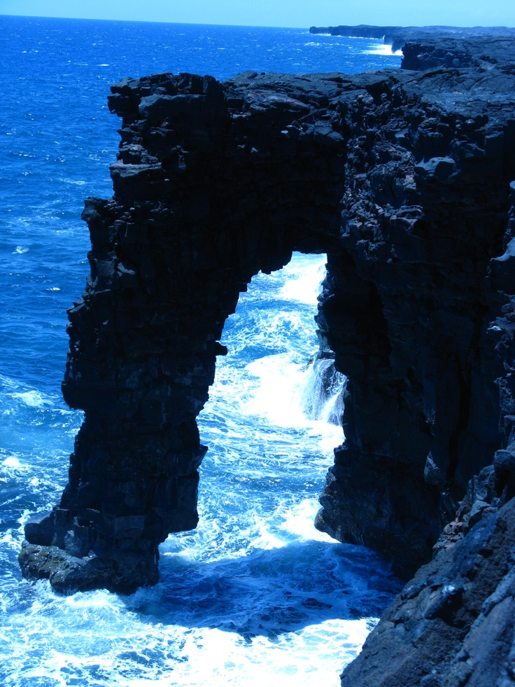 Sea Arch Big Island, Hawaii.  This is really cool in person.