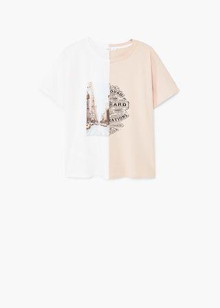T-shirt en coton imprimé | MANGO