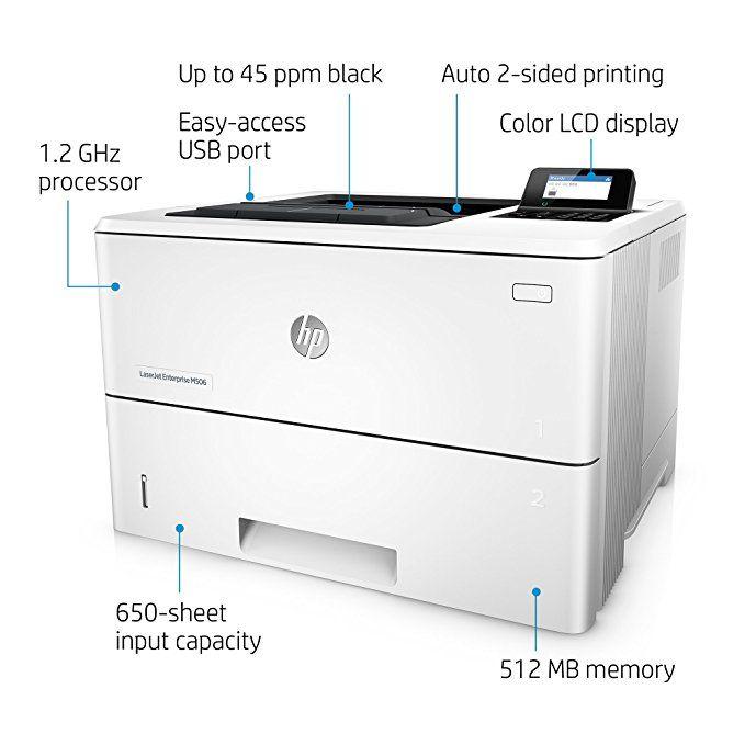 Hp Laserjet Enterprise M506dn Laser Printer With Built In Ethernet Duplex Printing F2a69a Affiliate Laser Printer Printer Enterprise