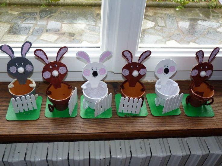 Petits lapins de Pâques - Photo de BRICOLAGES DES ENFANTS - scrap et tites bricoles